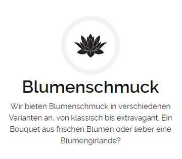 Blumenschmuck, Hochzeiten aus  Birkenheide